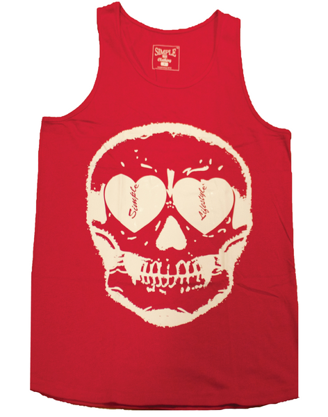 Lifestyle Skull Tank Top Red