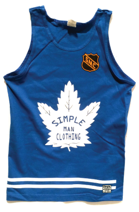 Leafs Simple Tank Blue