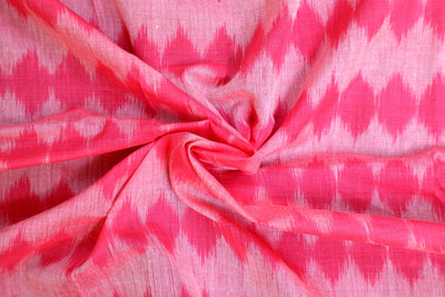 Cotton Ikat Handwoven Fabric