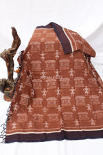 Load image into Gallery viewer, Caramel Brown Contemporary Cotton Saree - IndianVillèz