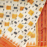 Load image into Gallery viewer, White Contemporary Khandua Handloom Silk Saree