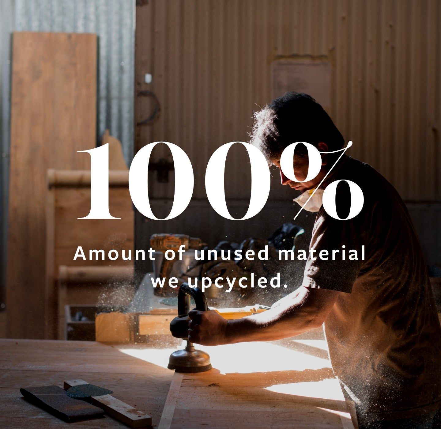 100 Percent of Unused Material We Upcycled