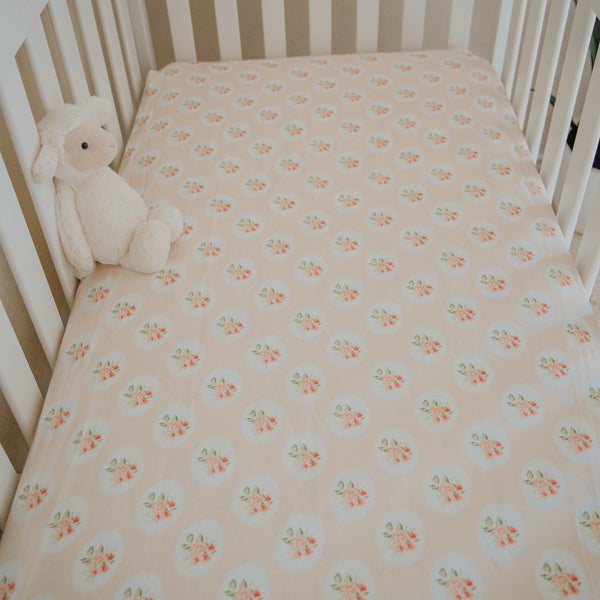 Crib Sheet - Sweet As Can Be Peach