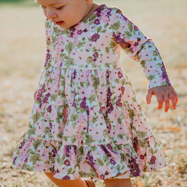 Flair Dress - Plummy Floral