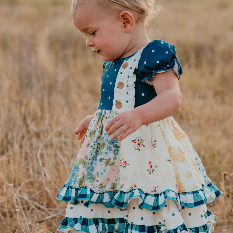 Double Dutch Dress - Fall Blooms