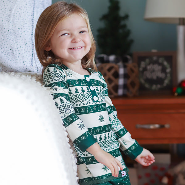 Dreamer 2 Piece - Girl's Snowflakes & Trees