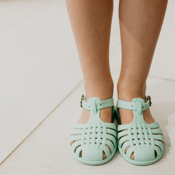 Matte Jelly Sandals - Mint