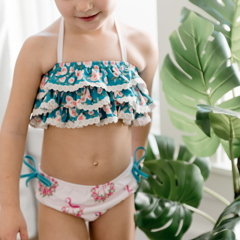 Milly Frilly Crop - Pretty in Pink
