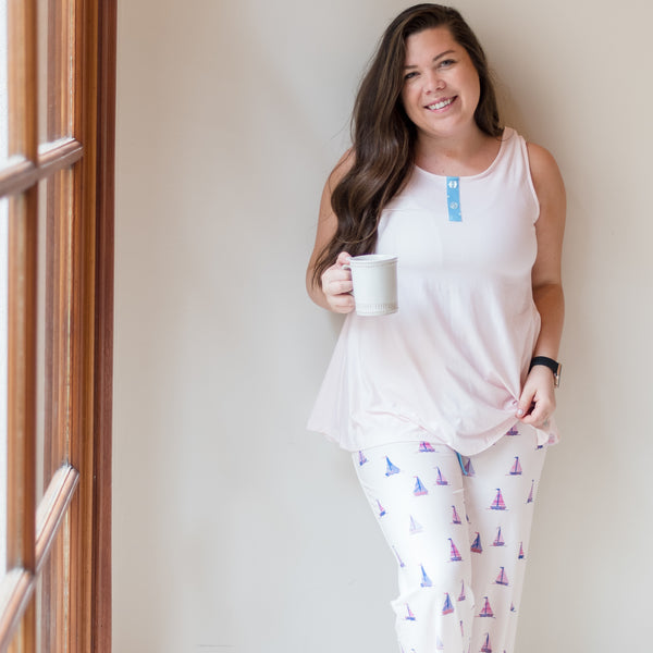 Women's Cozy PJ - Let's Go Sailing