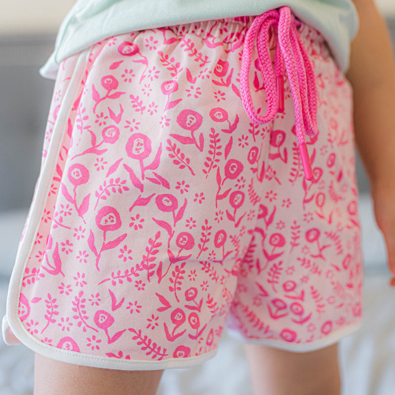 Athletic Shorts - Dancing Floral