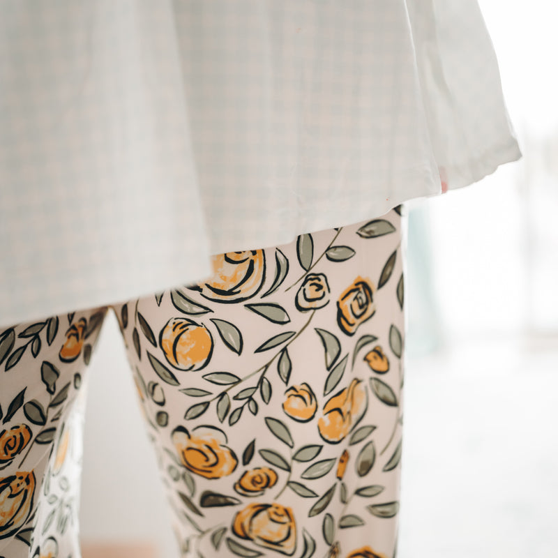 Women's Cozy PJ - Carefree Yellow Floral