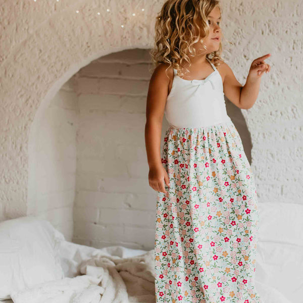 Dreamer Long Gown - Bubbly Floral