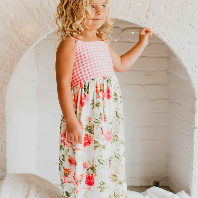 Dreamer Long Gown - Bright Floral
