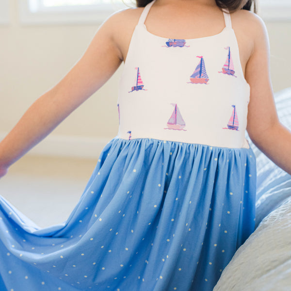 Dreamer Long Gown - Let's Go Sailing