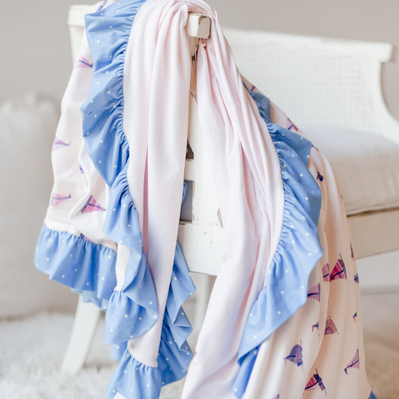 Dreamer Knit Blanket - Let's Go Sailing