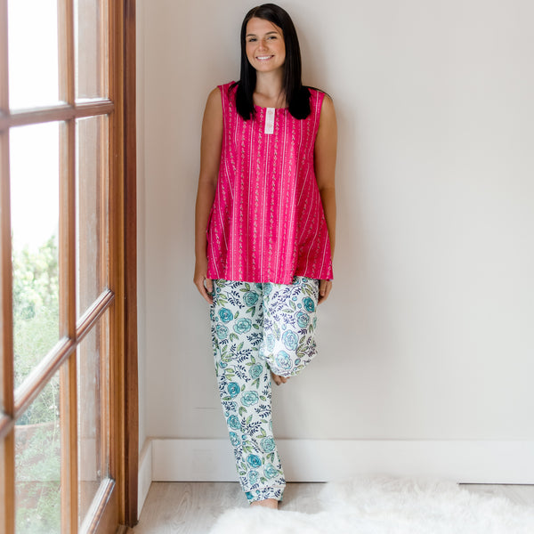 Women's Cozy PJ - Easy Peasy Mint