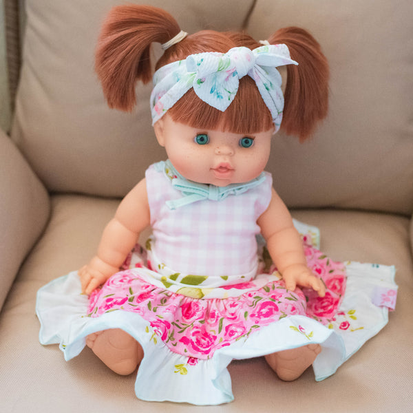 Doll Dress - Happy Pink