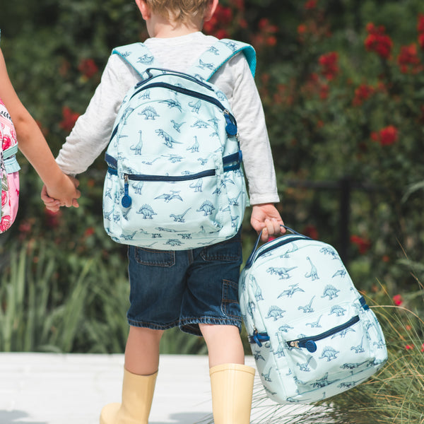 Ridley Toddler Backpack - Navy Dinos