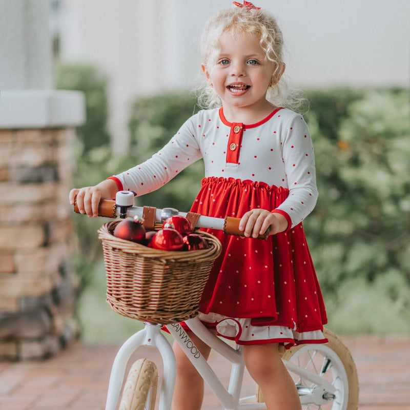Hazel Dress- Red Dotty Days
