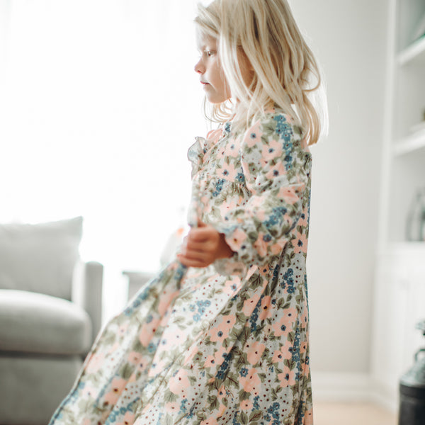 Sweet Ruffled Robe - Falling Floral