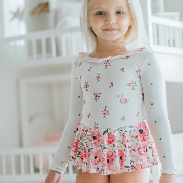 Skirted Leotard - Poppies