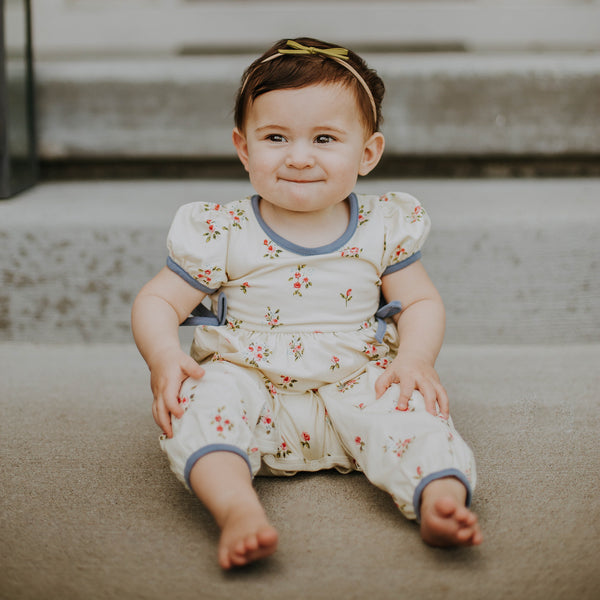 Jill Romper - Rose Bunches