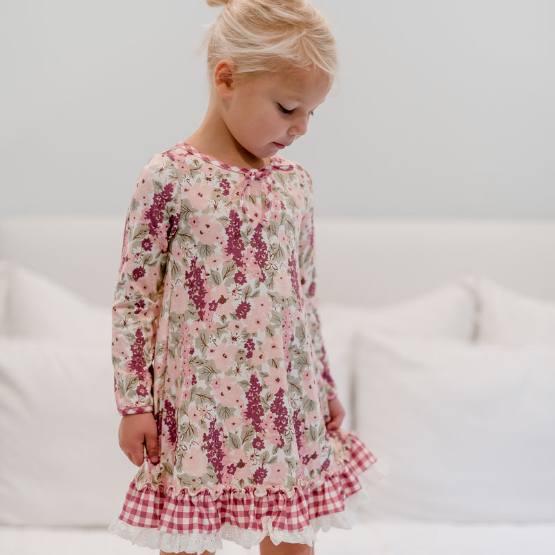 Dreamer Gown - Plum Floral