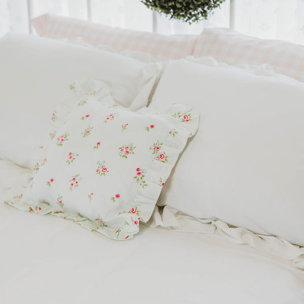 14 x 14 Pillow Cover - Floral Stripes
