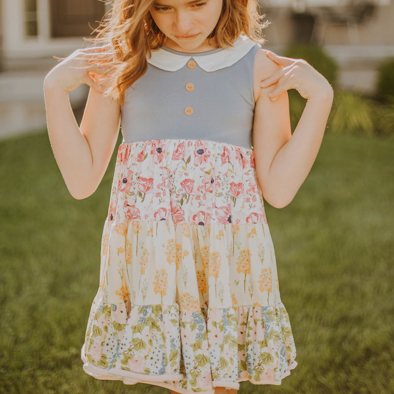Flair Dress - Mixed Blooms
