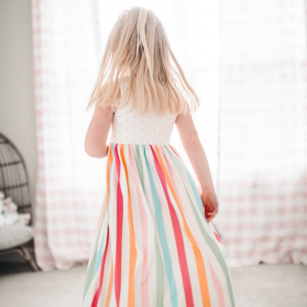 Dreamer Long Gown - Cheery Stripe