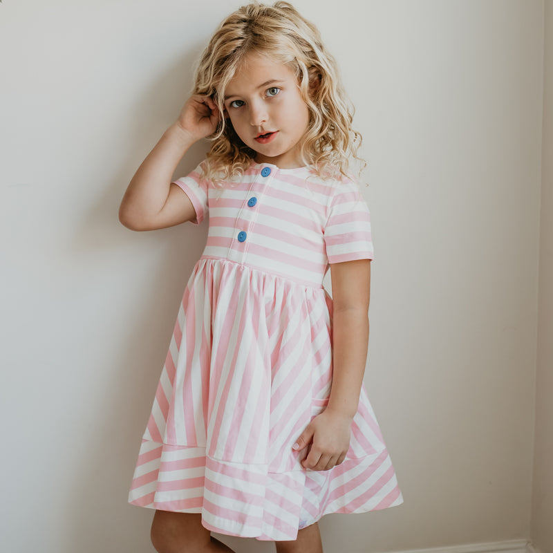 Kate Playdate - Pink Stripe