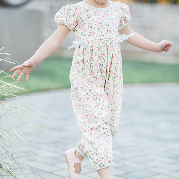 SweetHoney - Jill Romper - Speckled Flowers