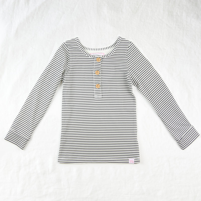 Lanie Layering Top - Brown Stripe
