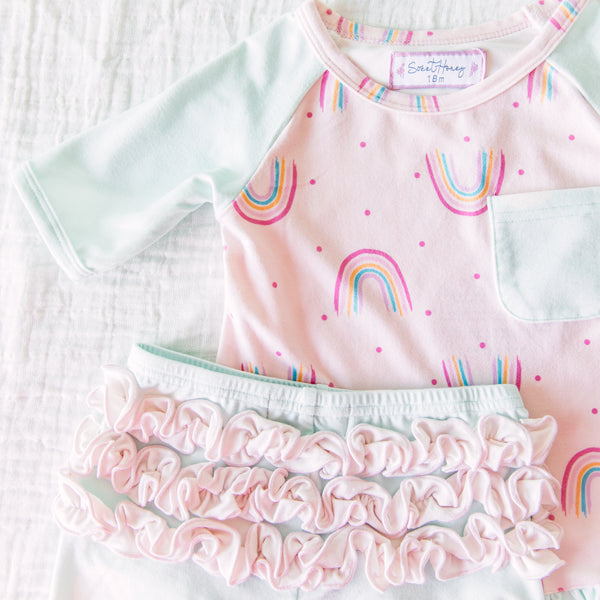 Dreamer Shortie Set - Rainbow Pink