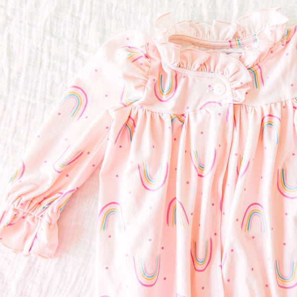 Sweet Ruffled Robe - Rainbow Pink