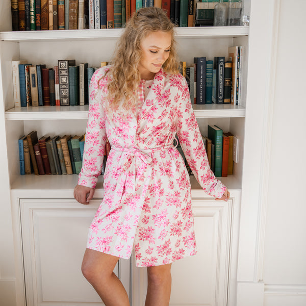 Classic Lounge Robe - Rosey Posey