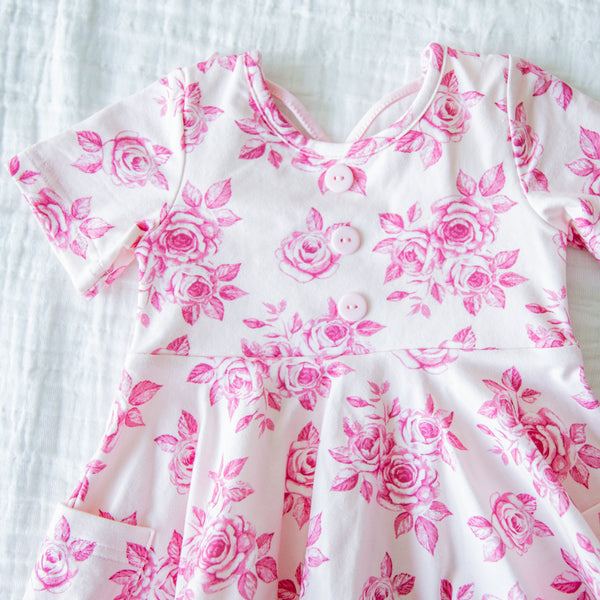 Flair Dress - Rosey Posey