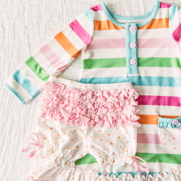 Dreamer Gown - Cheery Stripe
