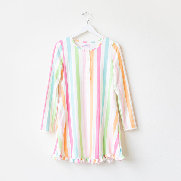 Women's Gown - Cheery Stripe
