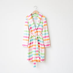 Classic Lounge Robe - Cheery Stripe
