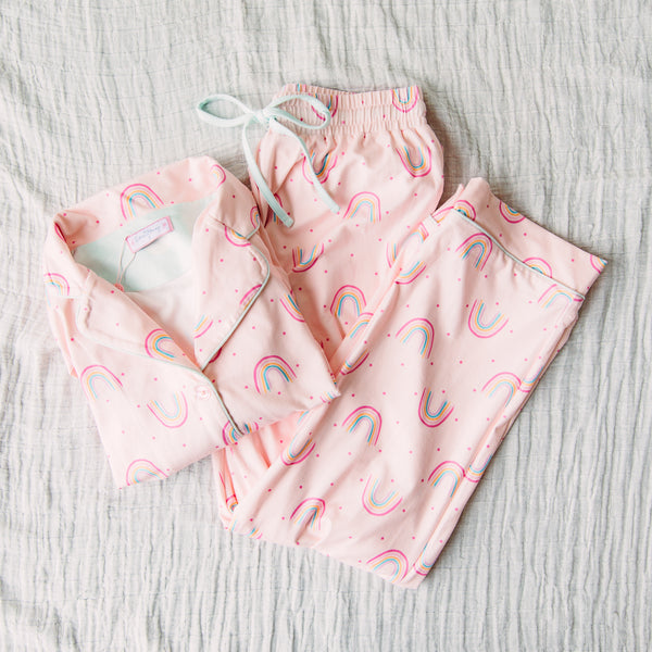Women's Cozy PJ - Rainbow Pink