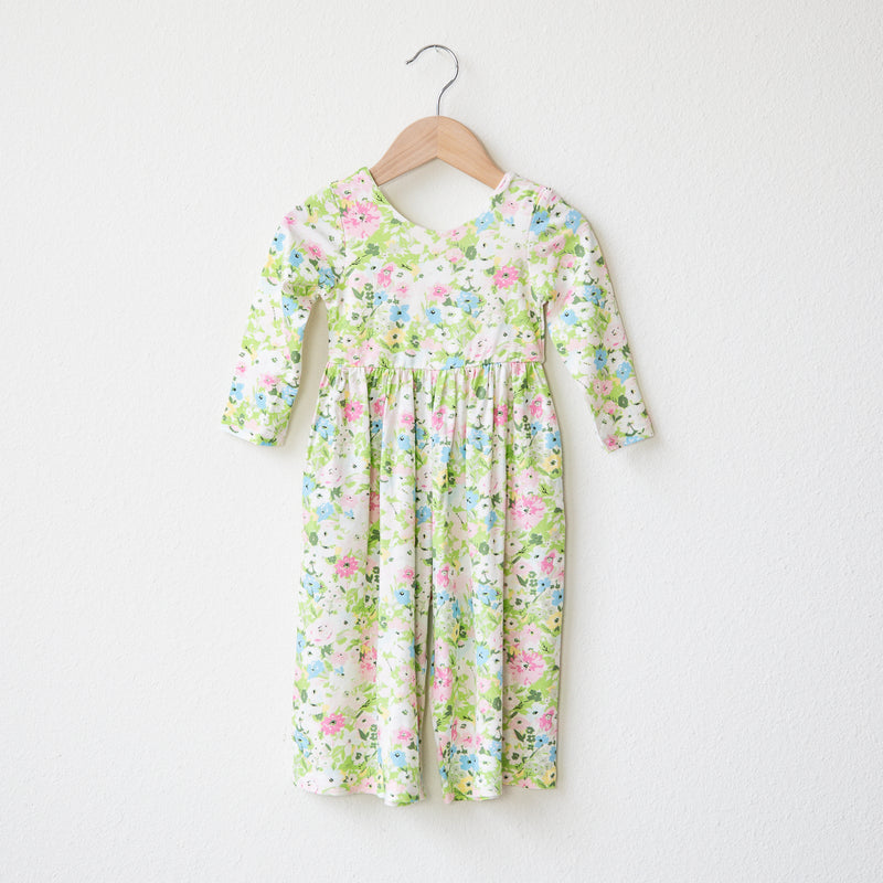 Leggy Sleeved Romper - First Blooms