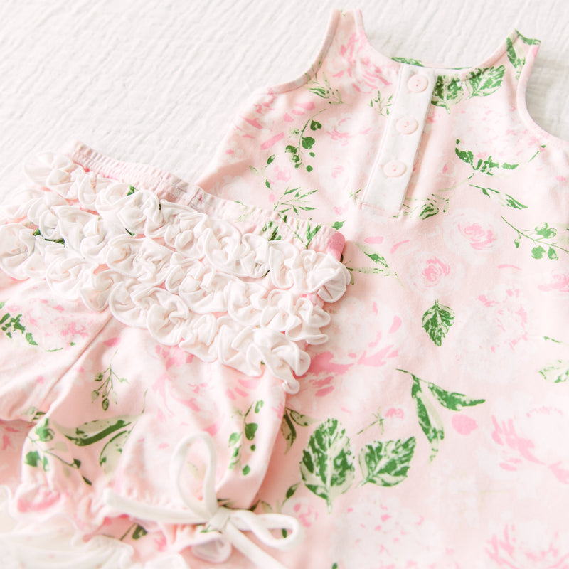 Dreamer Gown - Swifting Floral Dotty