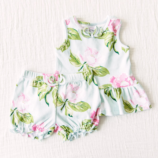 Peplum Set - Blue Magnolia