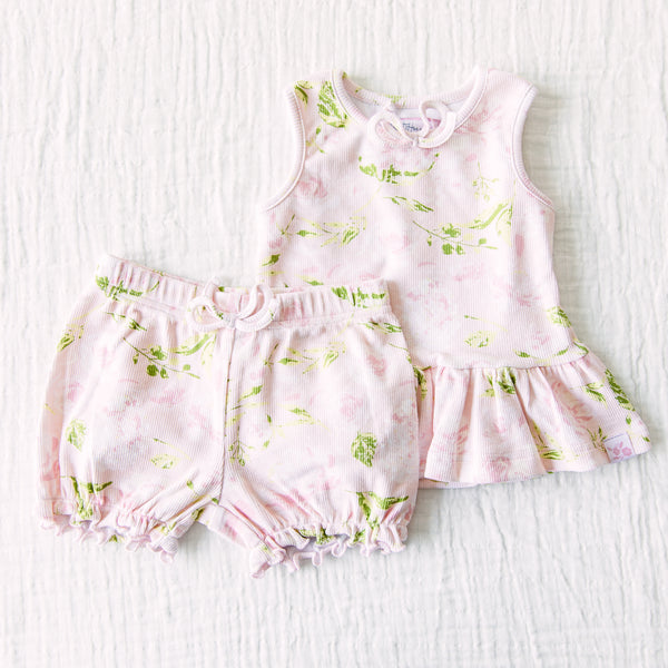 Peplum Set - Swifting Floral Dotty