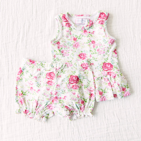 Peplum Set - Flowy Pinks