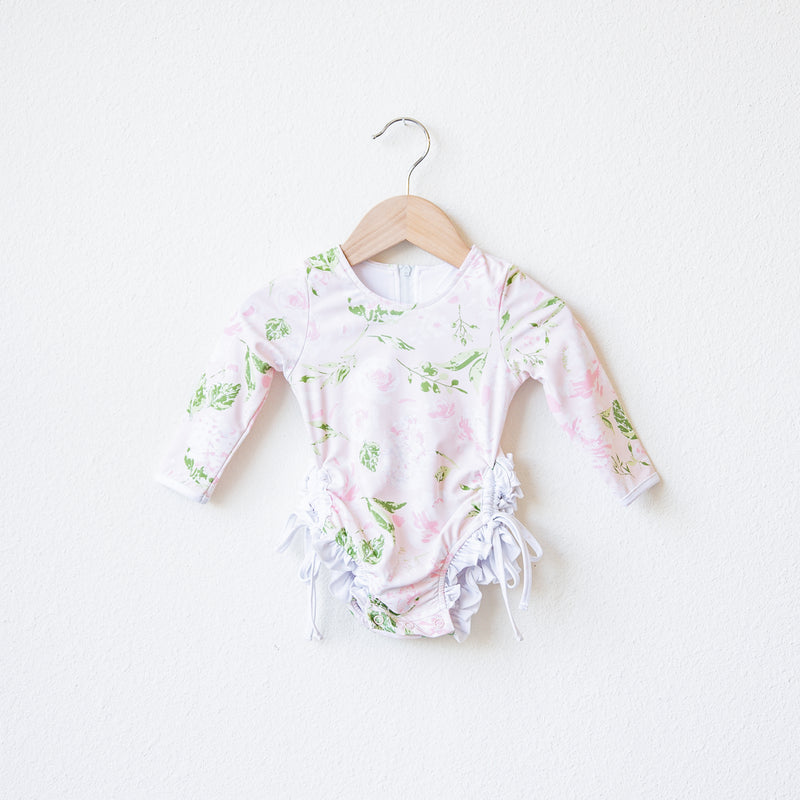 Solid Rash Guard - Swifting Floral Dotty