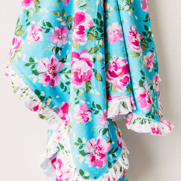 Ruffle Towel - Swirly Floral Pinks
