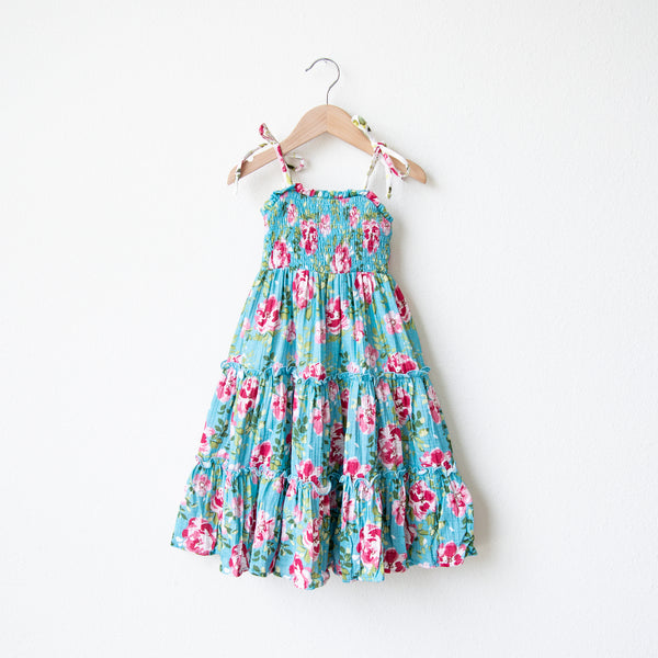 Beach Dress - Swirly Floral Pinks