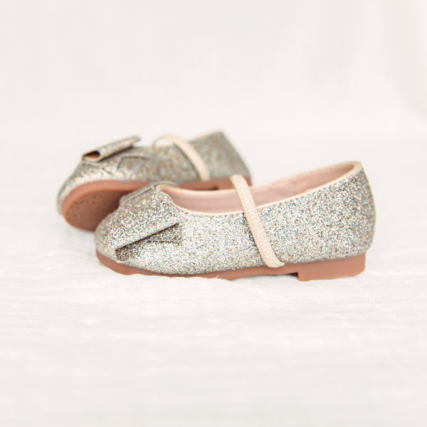 Big Bow Glitter Ballet - Gold